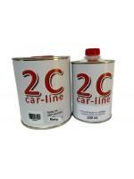 Barniz Acrílico 2K HS Anti-Rayado MATE 1 L. + Catalizador 200 ml.