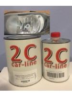 Barniz 2C NAS01 2K para faros Policarbonato 1 L. + Catalizador acrilico 2C HS rápido 500 ml.