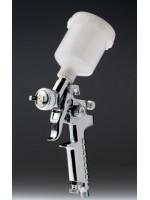 PISTOLA HVLP MINI 0.8mm PLATEADA (Retoques)